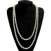 Babeyond® ART DECO Fashion Faux Pearls Flapper Beads Cluster Long Pearl Necklace 55""