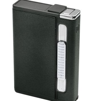 Patterson Black Cigarette Case Dispenser and Lighter