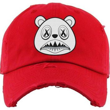 Ghost Baws Red Dad Hat