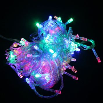 100 LED Indoor Outdoor Window Fairy Boho String Dorm Lights in 9 Colors