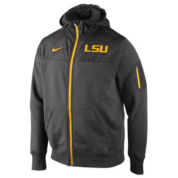 Nike LSU Tigers Stealth Full Zip Hooded Jacket - Charcoal