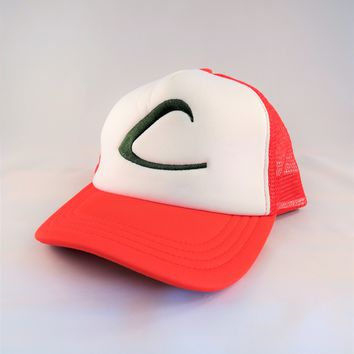 Pokemon Trainer Ash Ketchum Adjustable Trucker Hat