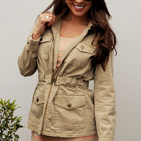 Reporting For Duty Jacket: Tan