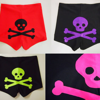 Skull and Crossbones Roller Derby Shorts