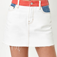 PacSun Colorblock Denim Mini Skirt at PacSun.com