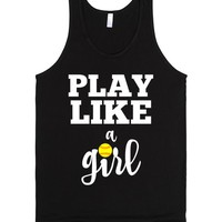 Play like a Softball girl tank top tee tshirt
