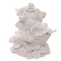 White Wealth Toad & Chinese Buddha