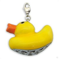 Mega Charm pendant - big duck yellow #9561, extra large, handbag Charm | Phone Charm