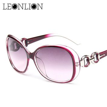 LeonLion 2018 Oversized Gradient Ladies Sunglasses Women Brand Designer Classic Sun Glasses Vintage Oculos De Sol Gafas