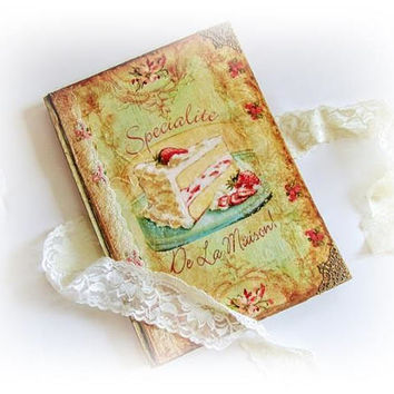 Personalized Cookery Recipe Book Grandma's Recipe Book Vintage Blamk Recipe Book  Customised Wife Gift Chrristmas Gift Recipe Notebook