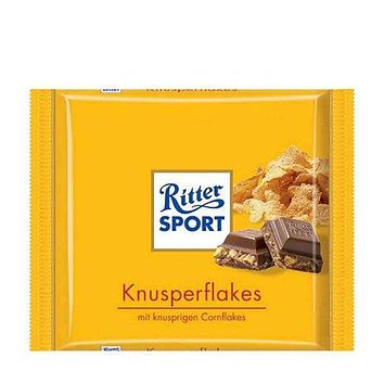 Ritter Sport Milk Chocolate with Cornflakes, 3.5 oz (100 g)