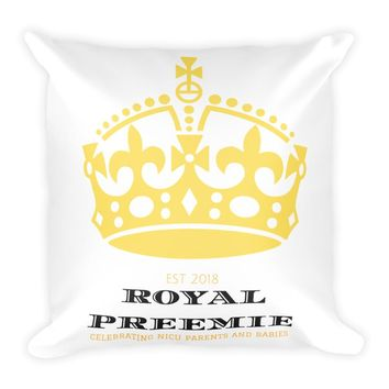 Gold Crown Square Pillow