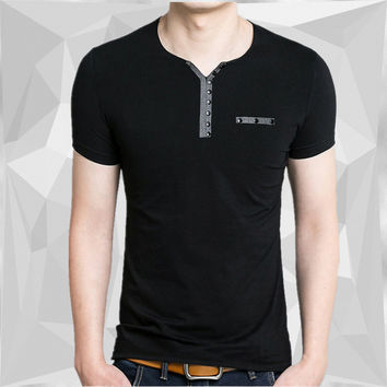 Mens Slim Fit Henley