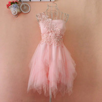 Embroidery Lace Tutu Dress A 083124 from Eternal