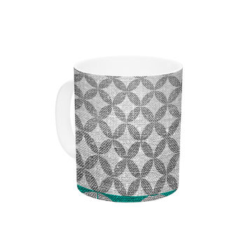 "Nick Atkinson ""Diamond Turquoise"" Ceramic Coffee Mug"