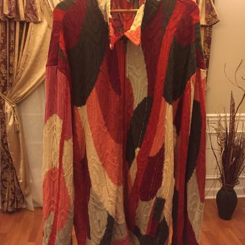 Coogi Sweater Jacket 'Size 3xl' (Rare Abstract Piece!! Must See!!)