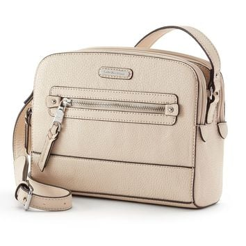 Dana Buchman Renee Mini Crossbody Bag (Brown)