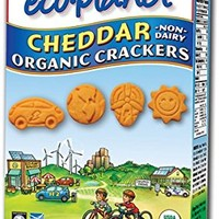 eco-planet Non-Dairy Organic Crackers, Cheddar, 6-Ounce Boxes (Pack of 6)