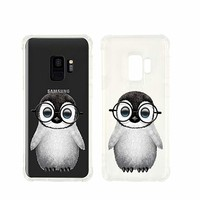 Cute Penguin Wearing Glasses Transparent Silicone Plastic Phone Case for Samsung Galaxy S9 Phone_ SUPERTRAMPshop (Samsung S9)