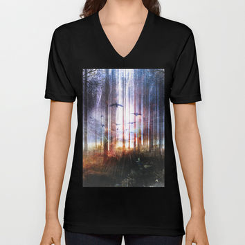 Absinthe forest Unisex V-Neck by HappyMelvin