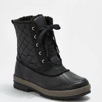 Black Quilted Lace-Up Boot | Winter Boots | rue21