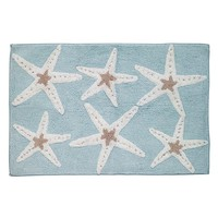 Sequin Shells Bath Rug (Blue)