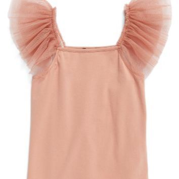 Bardot Junior Mesh Flutter Sleeve Cami (Toddler Girls & Little Girls) | Nordstrom