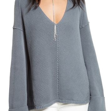 Free People La Brea V-Neck Sweater | Nordstrom