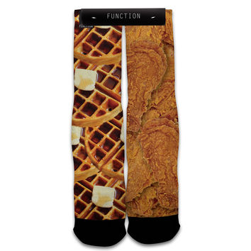 Function - Chicken And Waffles Printed Socks