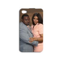 Kim Kardashian Kanye West Phone Case Cute iPod Case Funny iPhone Case Hilarious iPhone Cover iPhone 4 iPhone 5 iPhone 4s iPhone 5s iPod Case