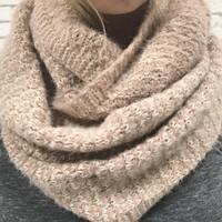Come Around Pink Knit Infinity Scarf