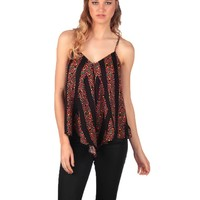 Lucca Couture Sleeveless Top - Leopard Stripe
