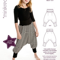 HAREM TROUSERS - 30303 - Minikrea sewing pattern - 4-10yrs (4823.90.00.95)