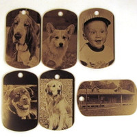 Photo Engraved ID Tag by gclasergraphics on Etsy