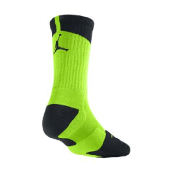 Nike Air Jordan Dri-FIT Crew Basketball Socks 1 Pair - Electric Green