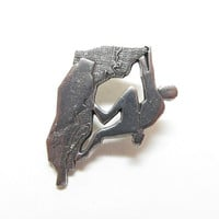 Pewter Rock Climber Pin