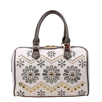 POE FLORAL LASER CUT BOSTON BAG - NEW ARRIVALS
