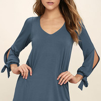 Glory of Love Denim Blue Shift Dress
