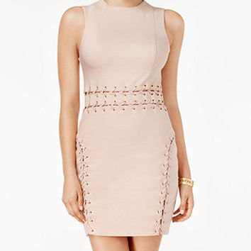 GUESS Miranda Lace-Up Bodycon Dress | macys.com