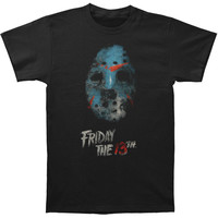 Friday The 13th Men's  Mask T-shirt Black