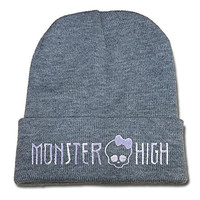 JIAQ Monster High Hauntedette Beanie Embroideryies Knitted Hats Caps