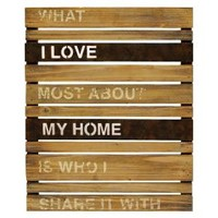 Home Wood and Metal Planks Wall Hanging : Target