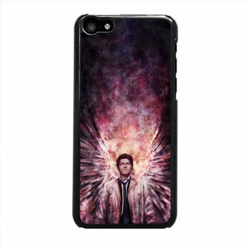supernatural castiel galaxy iphone 5c 5 5s 4 4s 6 6s plus cases
