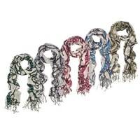 Trendy Chains Print Fashion Fringe Scarf - Different Colors Available