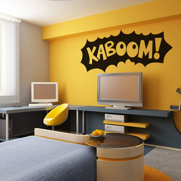 Vinyl Wall Decal Sticker Kaboom #OS_DC757