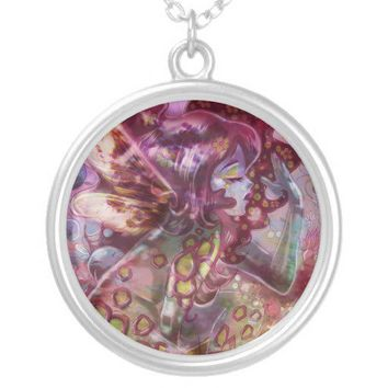psychedelic earth faerie necklace from Zazzle.com