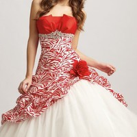 Strapless A-Line Gown by Allure Quinceanera