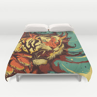 The Tiger's Eyes are like my Own Duvet Cover by MindkillerINK