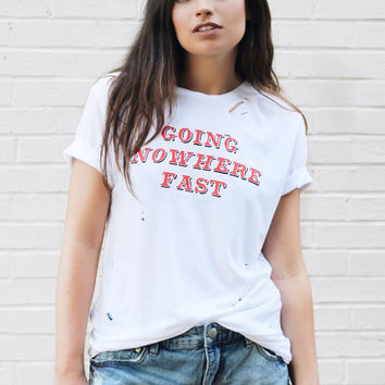 Going Nowhere Fast Destroyed T-Shirt