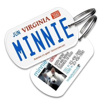 Virginia License Plate Pet Tag